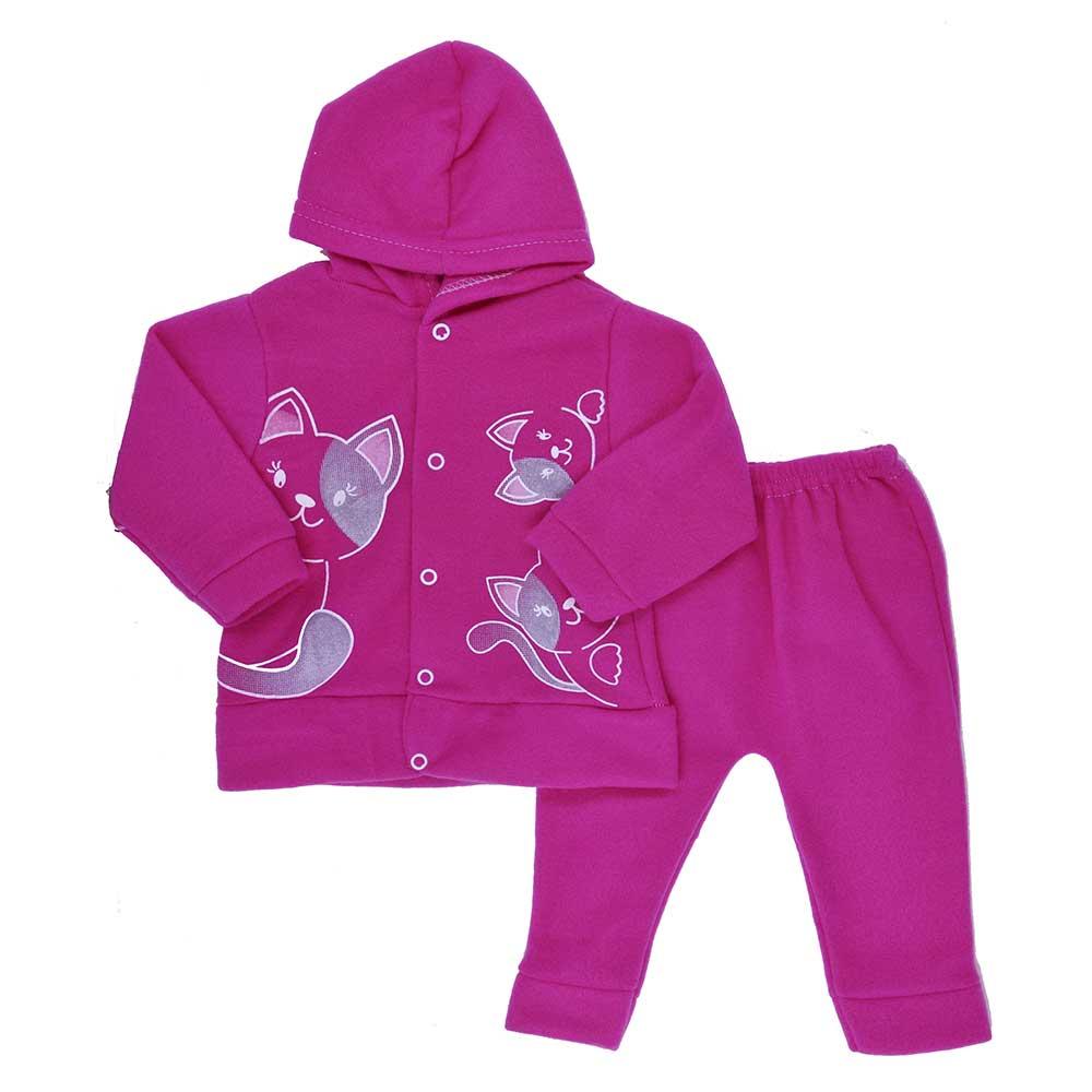 Conjunto de Bebê Soft Rosa Pink (P/M/G)