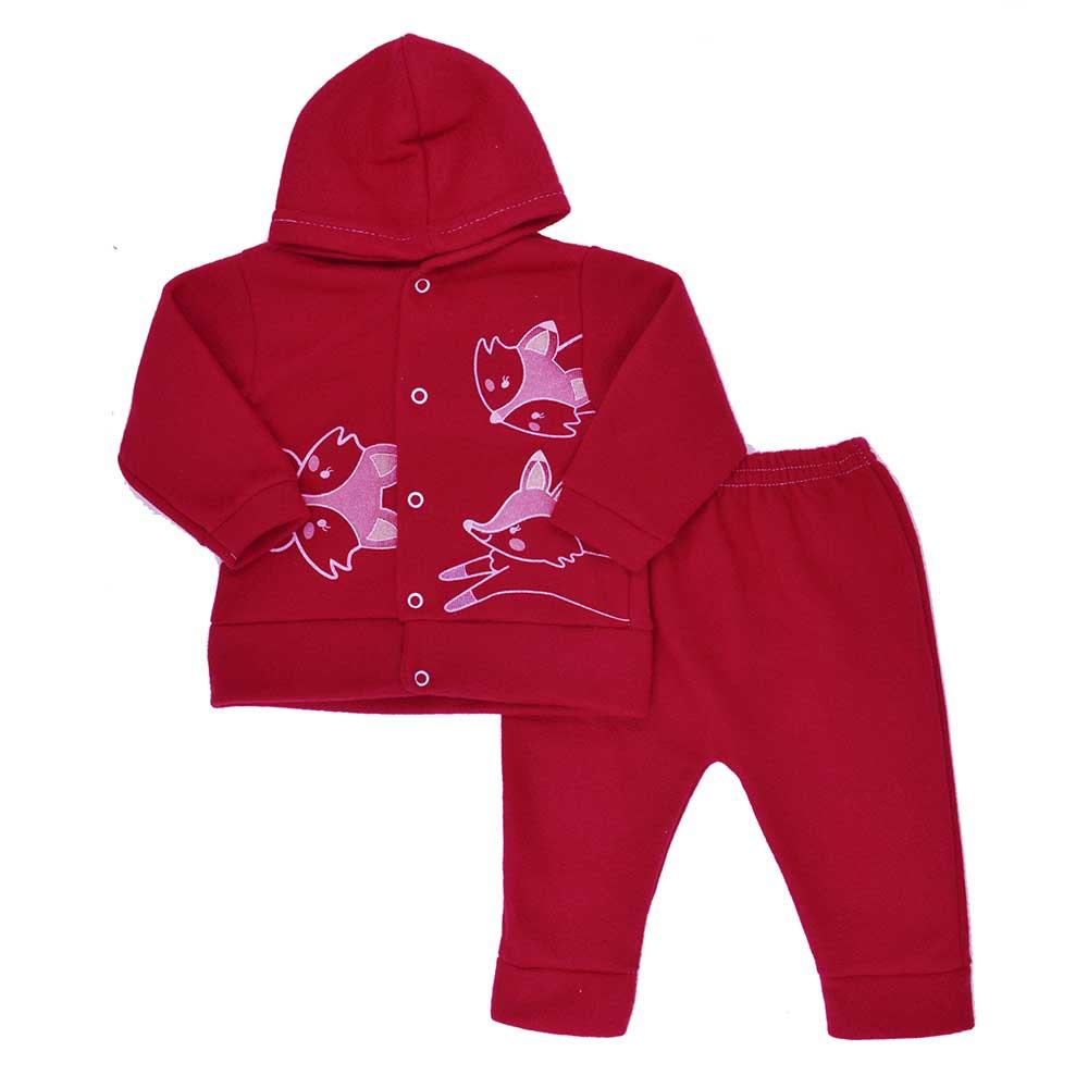 Conjunto de Bebê Soft Vermelho Unissex (P/M/G)