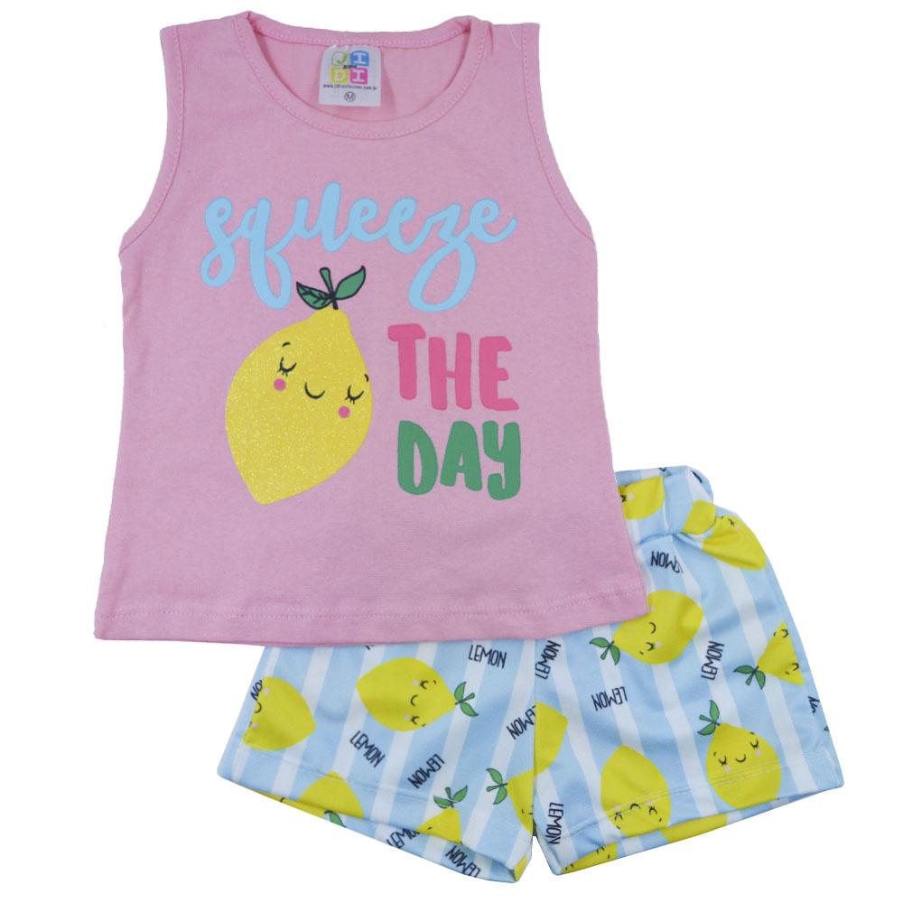 Conjunto de Bebê Verão Lemon Rosé (P/M/G)