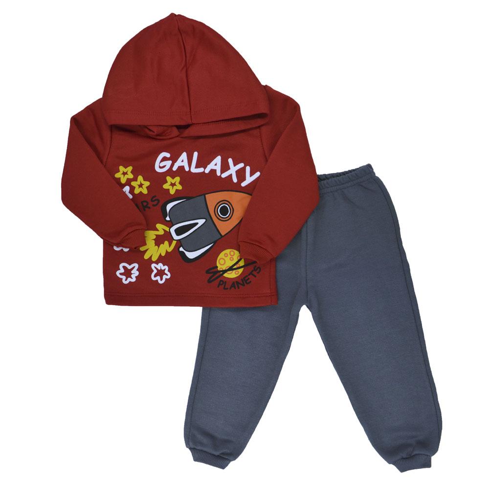 Conjunto de Moletom com Capuz Bebê Galaxy (P/M/G)