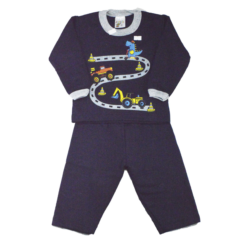 Conjunto Infantil de Moletom Corrida Maluca Azul Marinho (P/M/G)