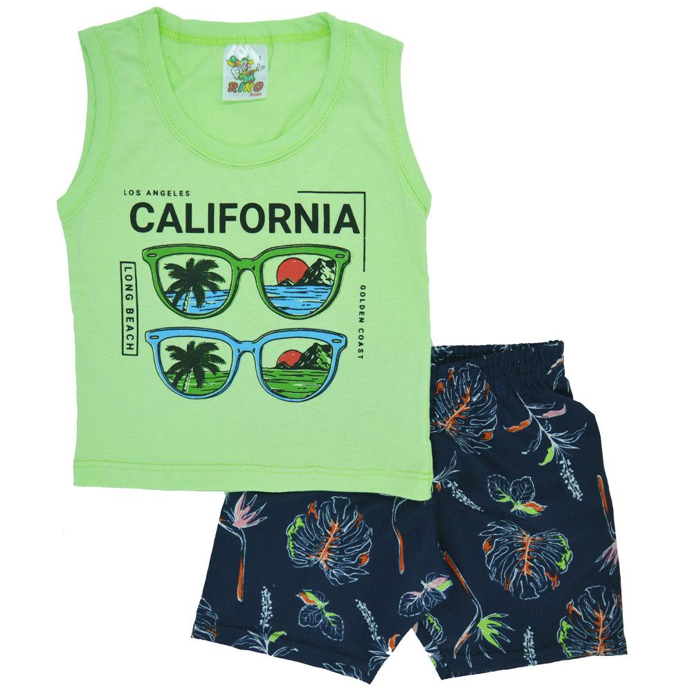Conjunto Infantil de Verão Califórnia Verde (1/2/3)