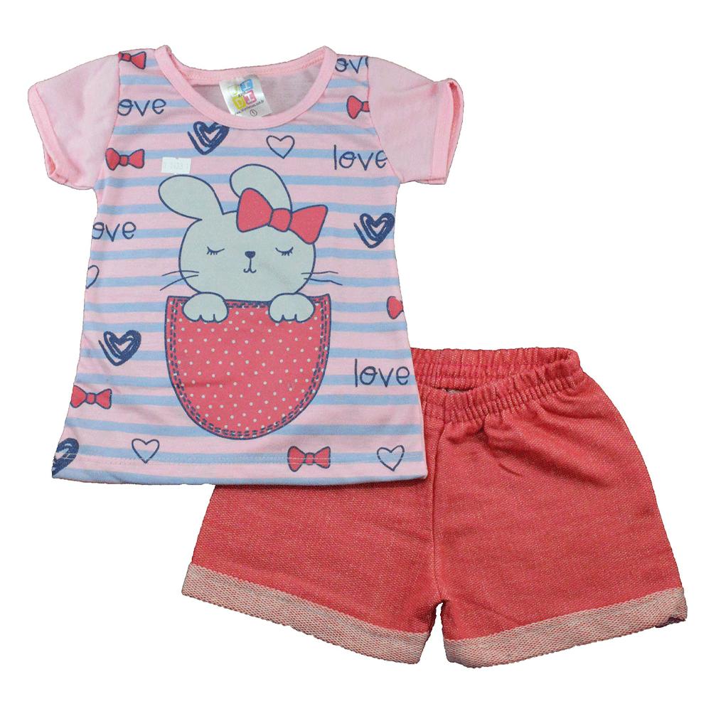 Conjunto Infantil de Verão Coelhinha Love Jidi