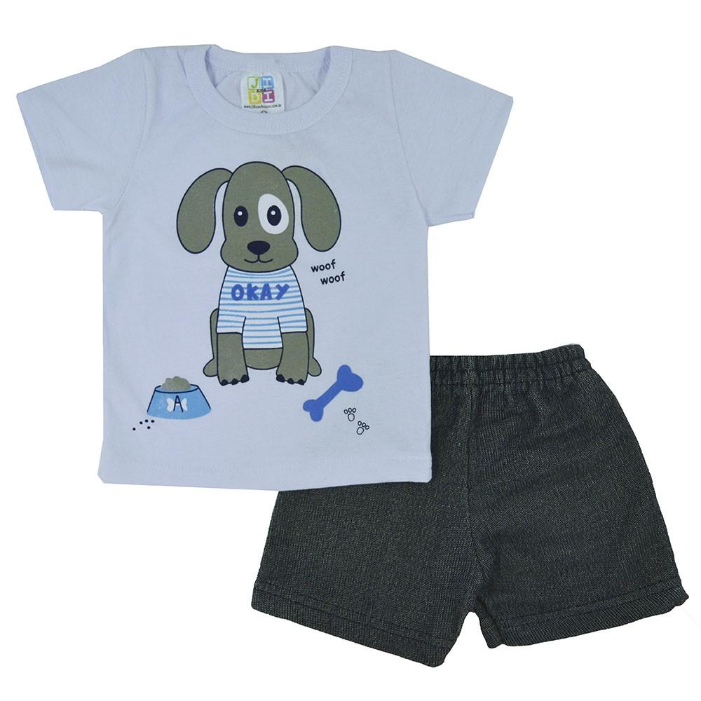 Conjunto Infantil de Verão Dog Okay (P/M/G)