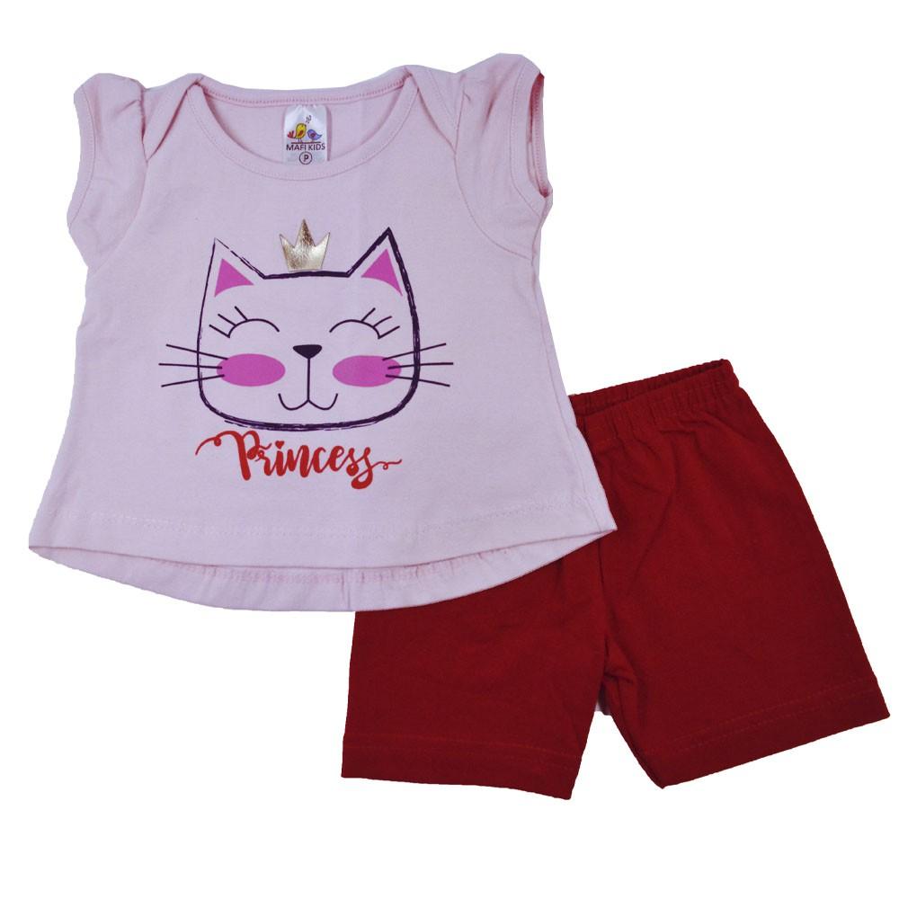 Conjunto Infantil de Verão Gatinha Princess MK