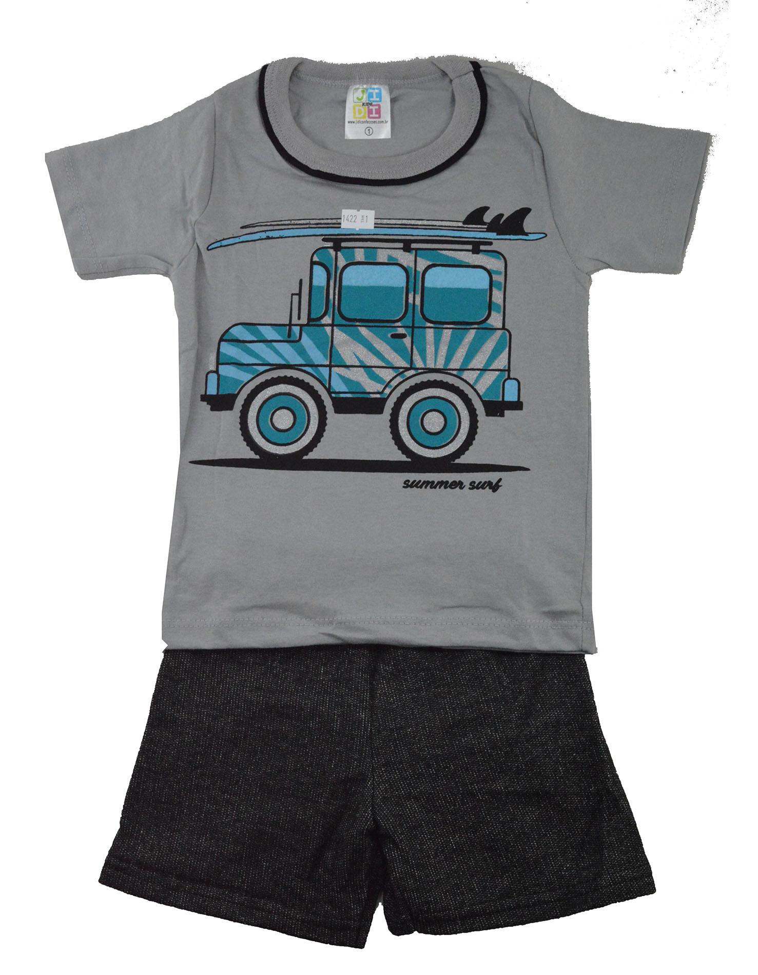 Conjunto Infantil de Verão Jeep Summer Surf Cinza Jidi