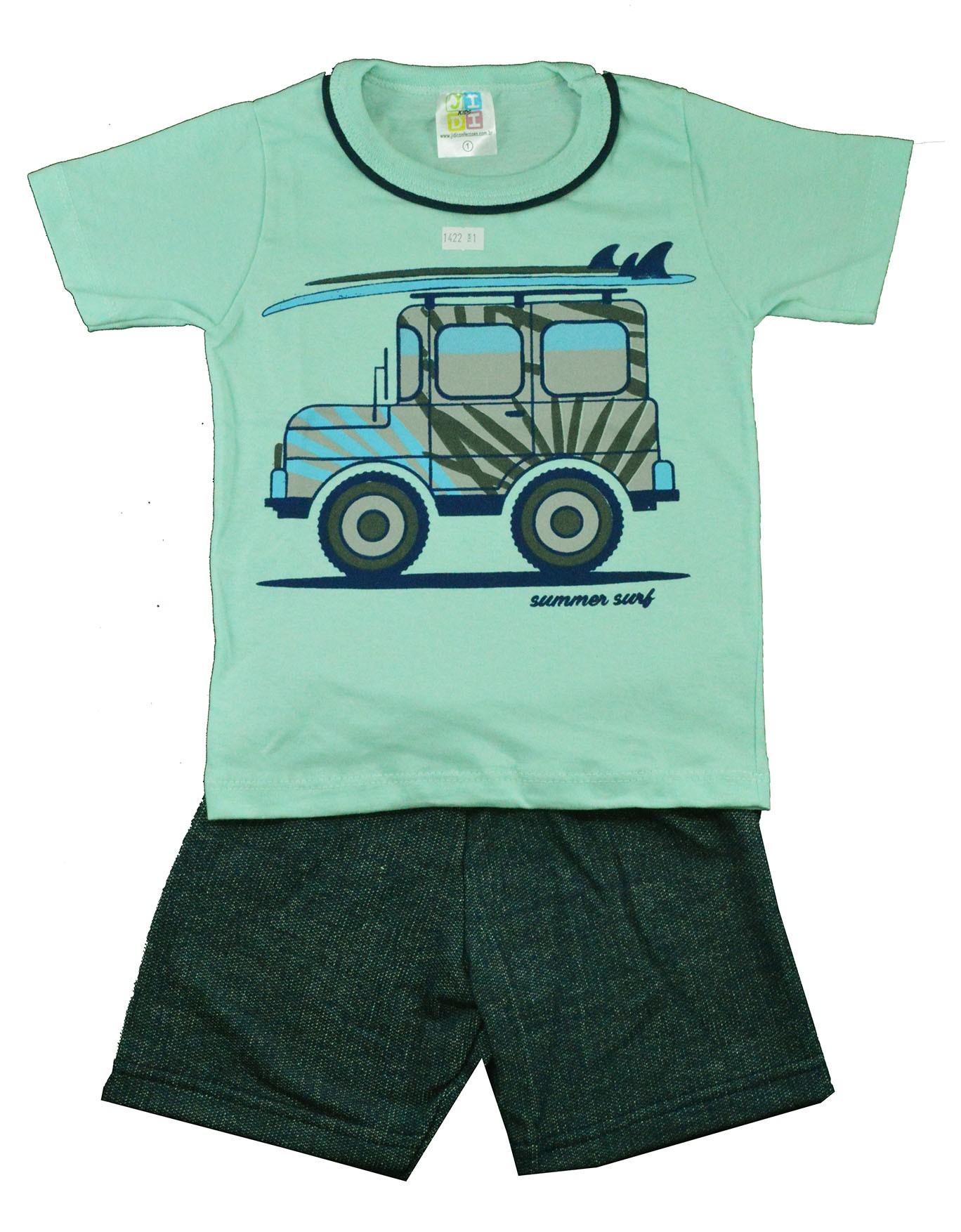 Conjunto Infantil de Verão Jeep Summer Surf Verde Jidi