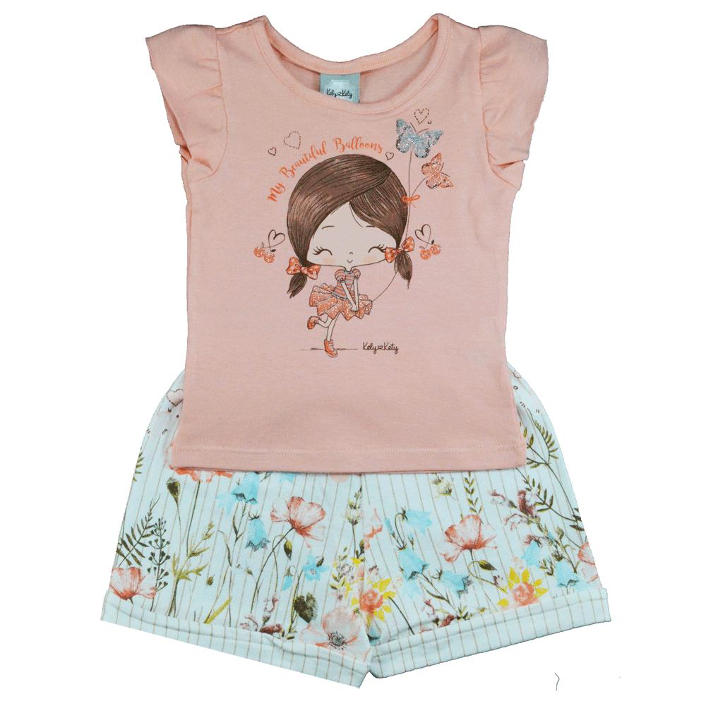 Conjunto Infantil de Verão KK Garota Beautiful