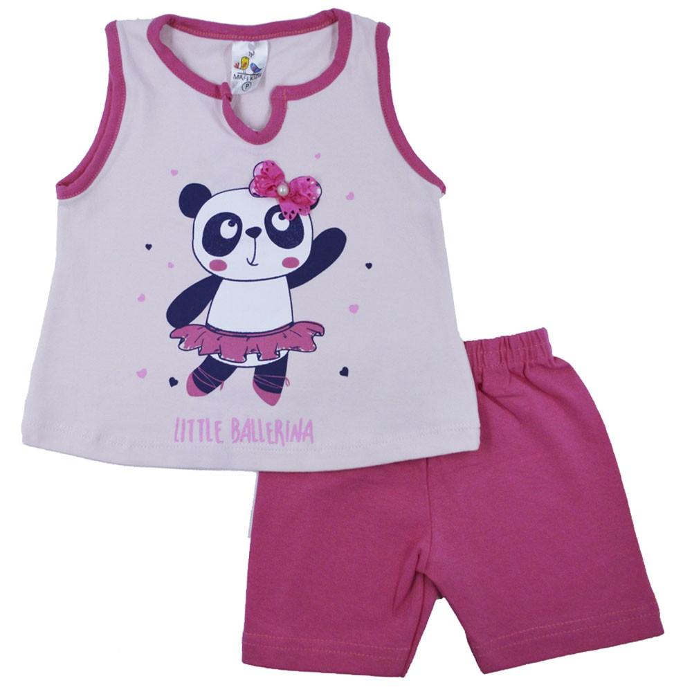 Conjunto Infantil de Verão Pandinha Ballerina  MK