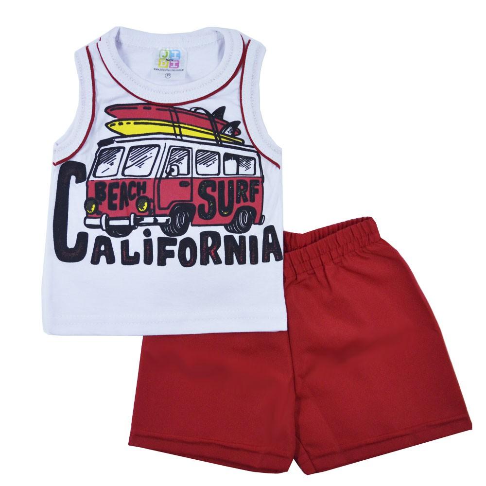 Conjunto Infantil de Verão Surf Califórnia Jidi