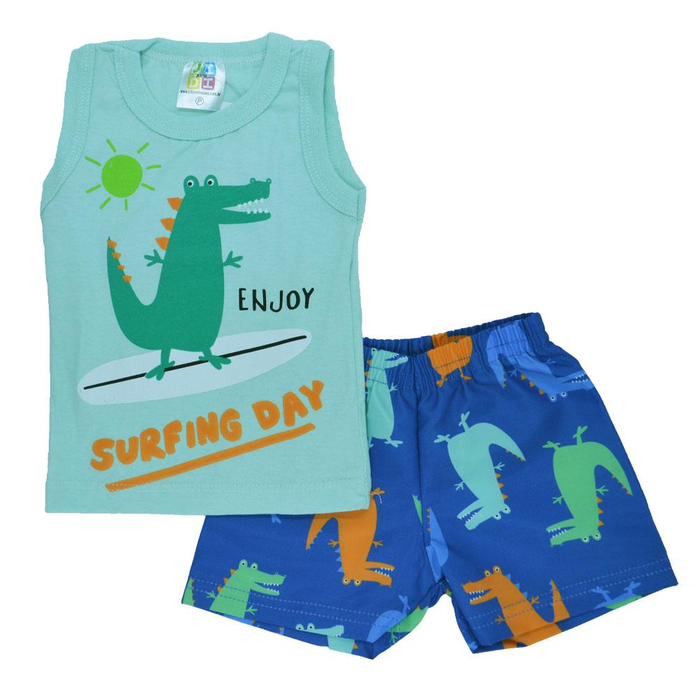 Conjunto Infantil de Verão Surfing Day (P/M/G)
