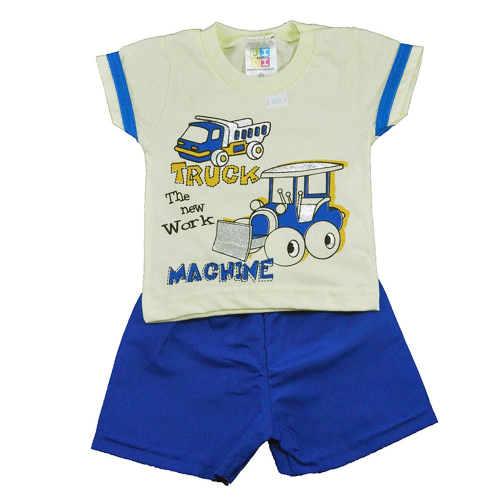 Conjunto Infantil de Verão Truck Amarelo Jidi