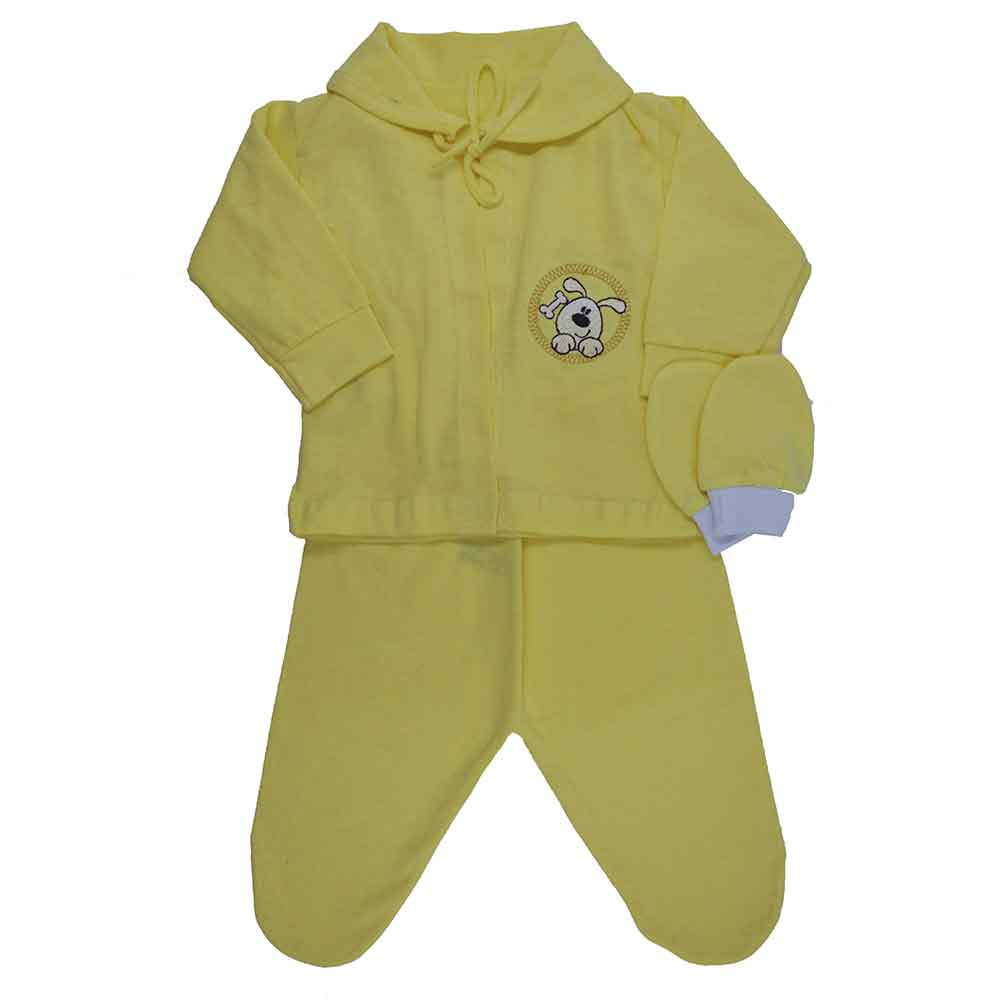 Conjunto Pagão Bordado Amarelo 4Pçs