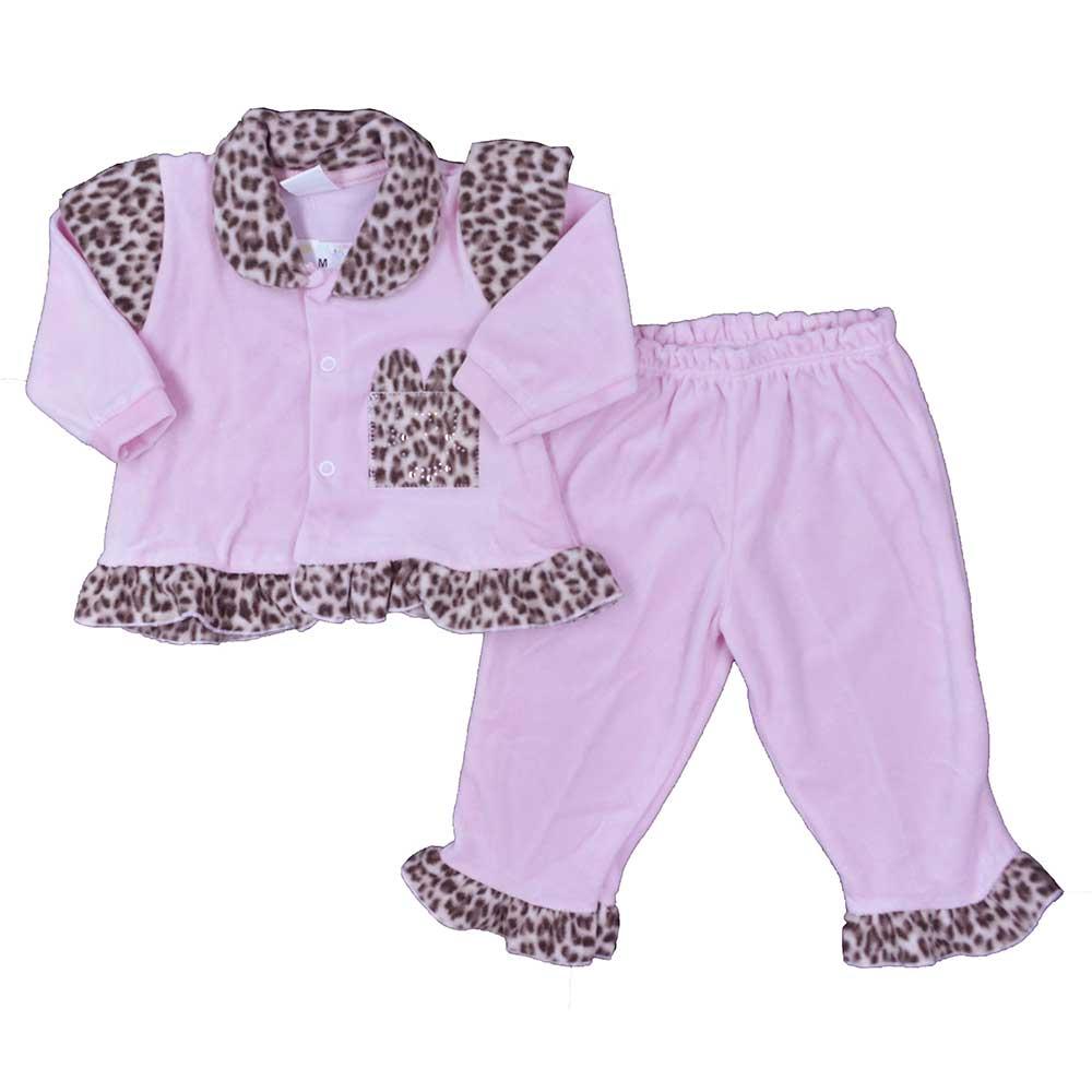 Conjunto Plush de Bebê Petutinha Rosa Oncinha (P/M/G)