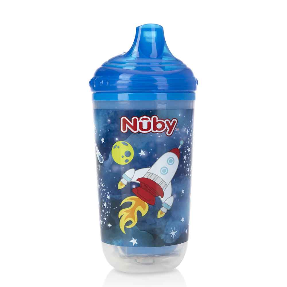 Copo Nûby Pisca-Pisca Anti Vazamento 300ML Foguete +6M