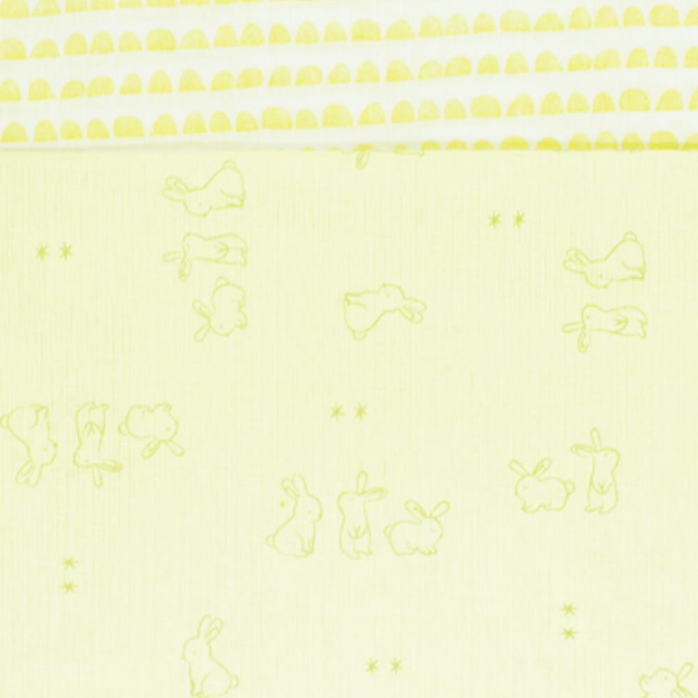 Jogo de Lençol Americano Papi Família Coelho Amarelo