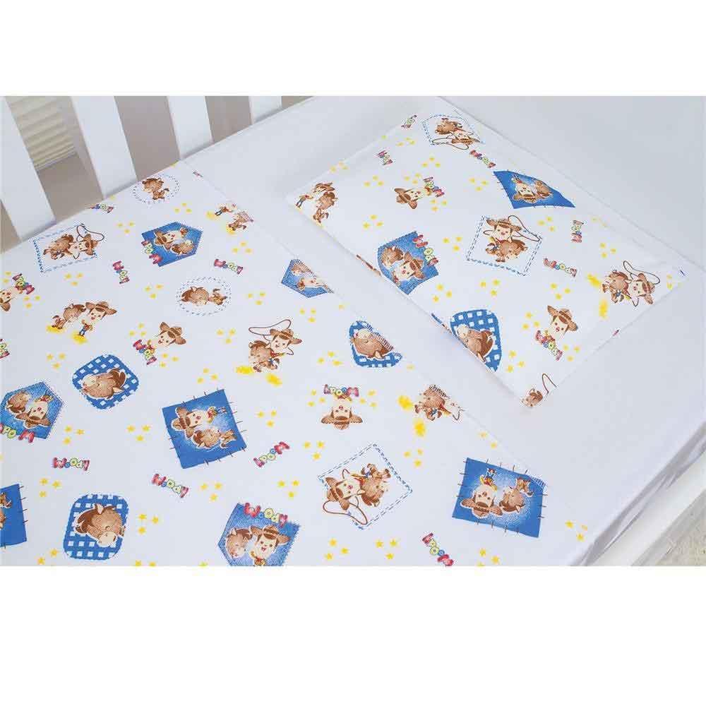 Jogo de Lençol Americano Papi Karinho Disney Woody Toy Story