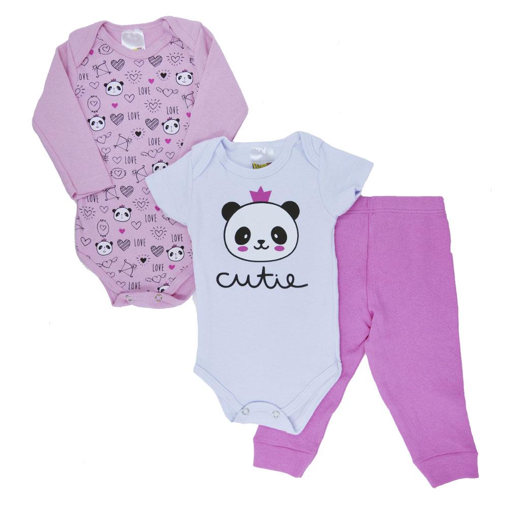 Kit Body Panda Ribana (P/M/G) 3Pçs