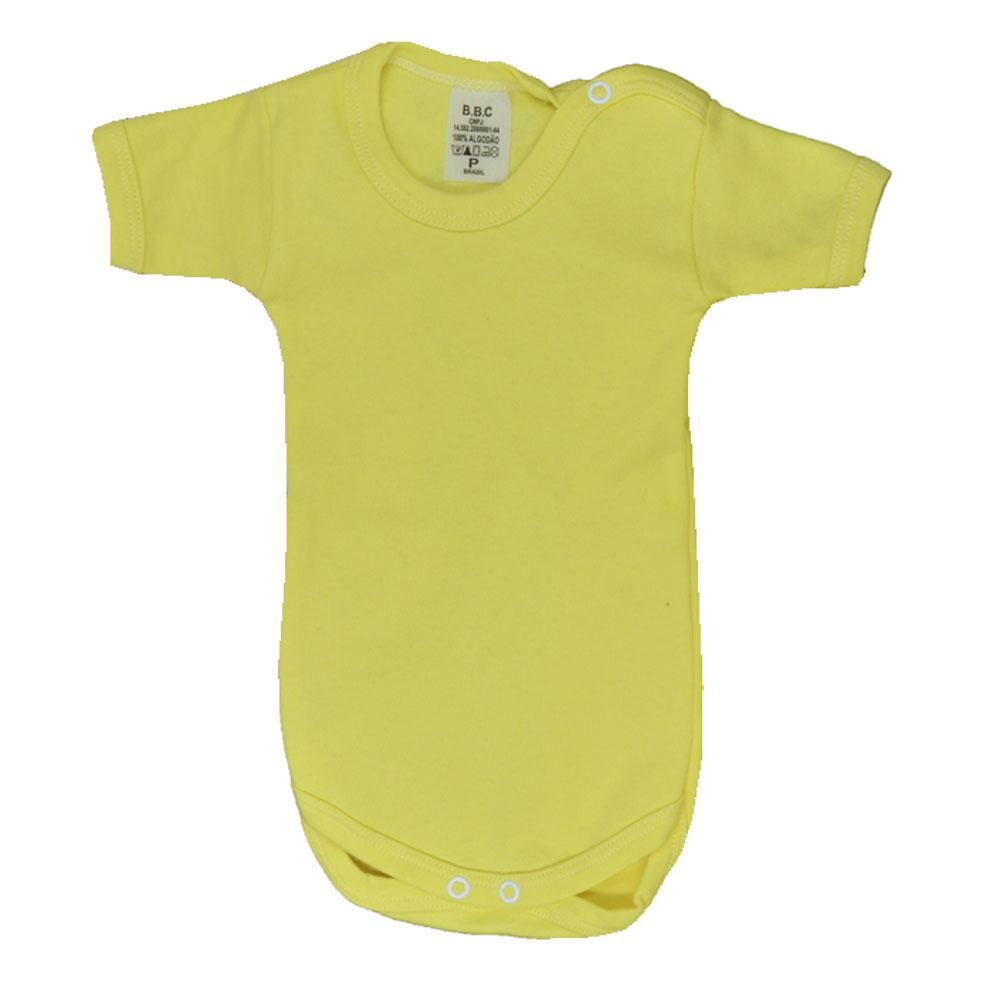 Kit Body Urso Amarelo Suedine Unissex (RN/P/M/G/GG) 3Pçs