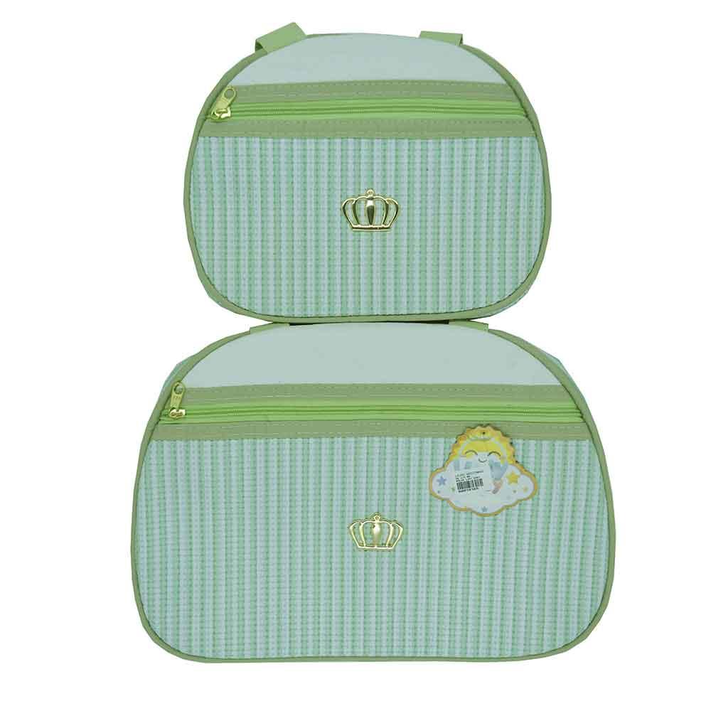 Kit Bolsa Maternidade 2 Pçs Verde Ludy Baby