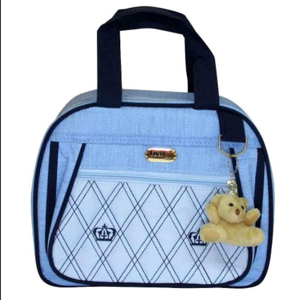 Kit Bolsa Maternidade 4 Pçs Azul Jeans LB. 1516