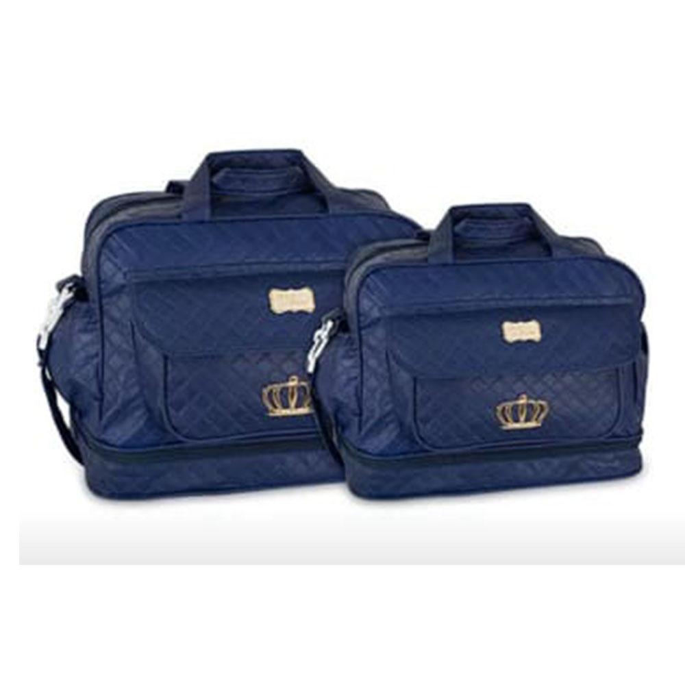 Kit Bolsa Maternidade Coroa 2 Pçs Azul Marinho MB. 21112