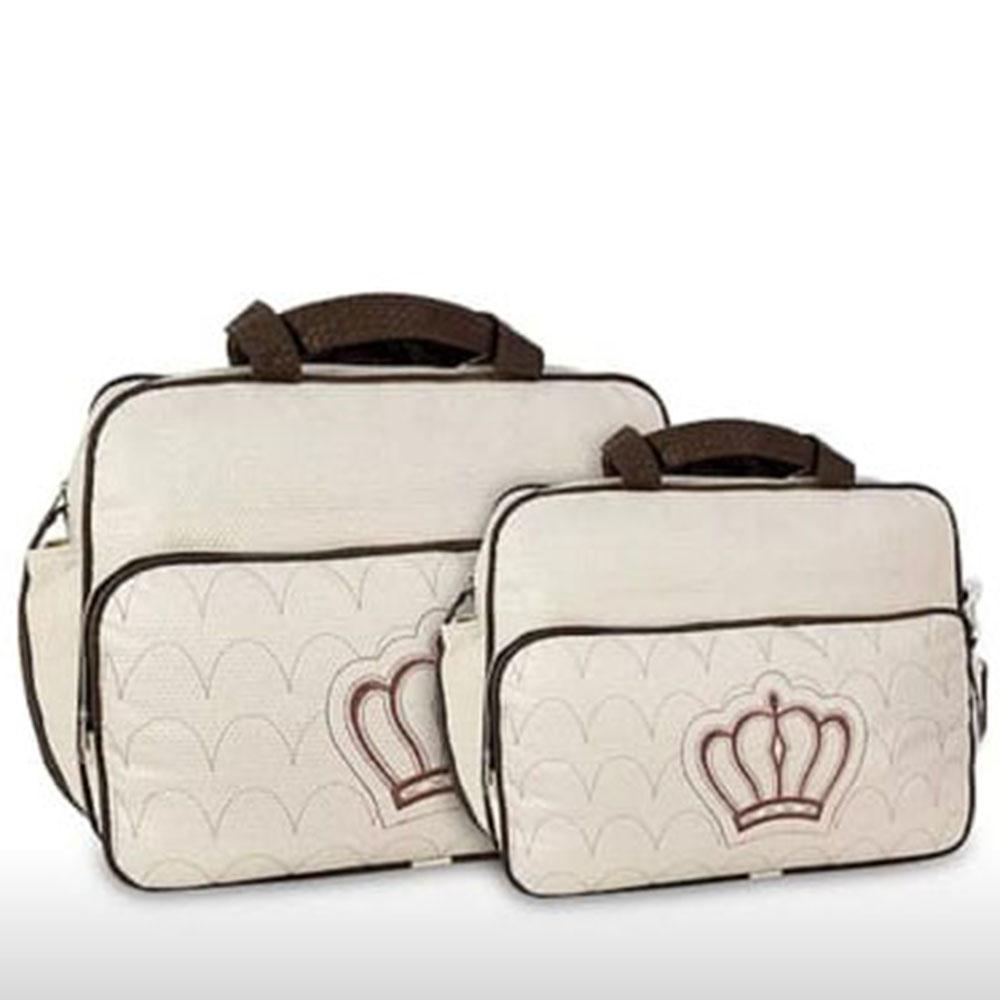 Kit Bolsa Maternidade Coroa 2 Pçs Bege MB. 20910