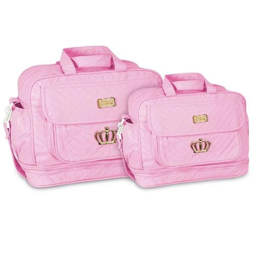 Kit Bolsa Maternidade Coroa 2 Pçs Rosa MB. 21112