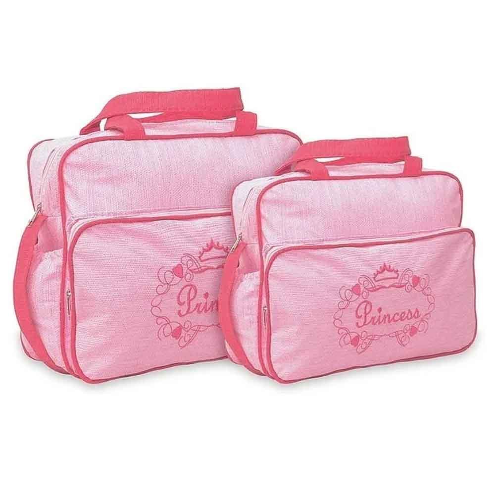 Kit Bolsa Maternidade Princess 2 Pçs Rosa MB. 21314