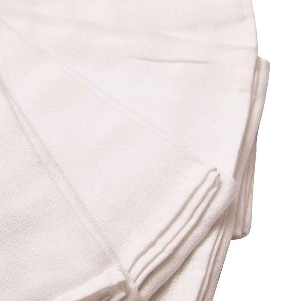 Kit Fralda de Pano Luxo Branca Banhada Papi 70cm x 67cm