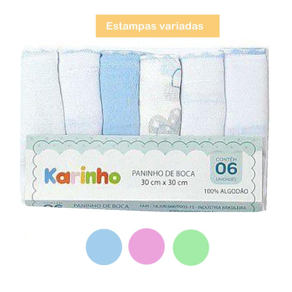 Kit Paninho de Boca Papi Karinho 30cm x 30cm (6 UNIDADES)