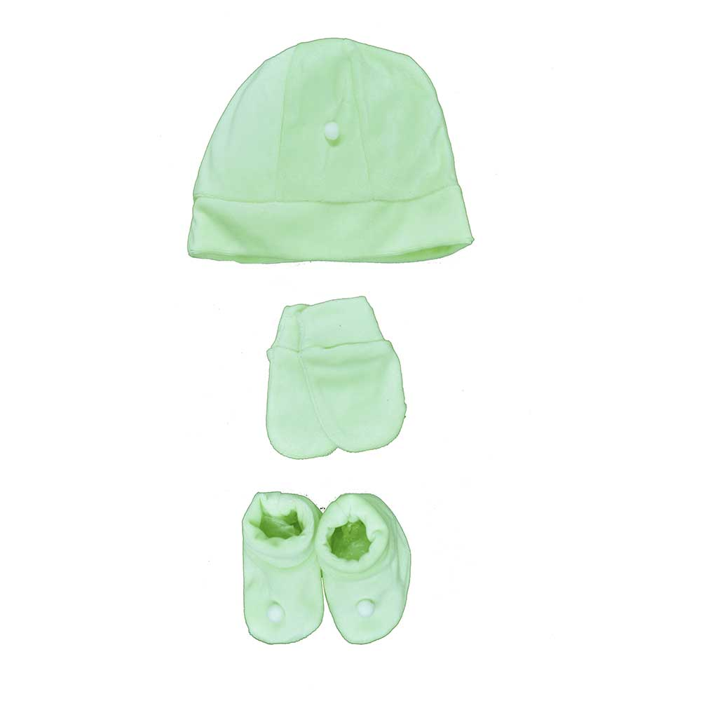 Kit Touca, Sapatinho e Luva Verde Plush