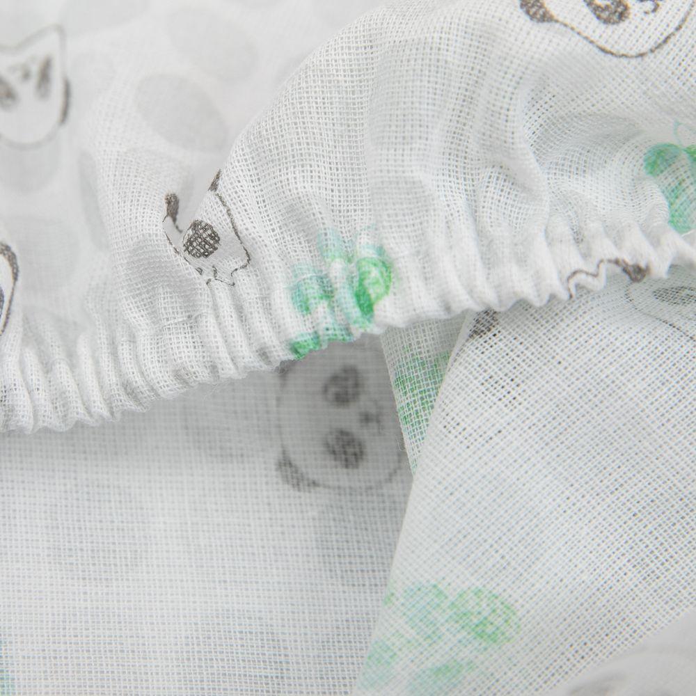 Lençol com Elástico Avulso Berço Americano Papi Panda