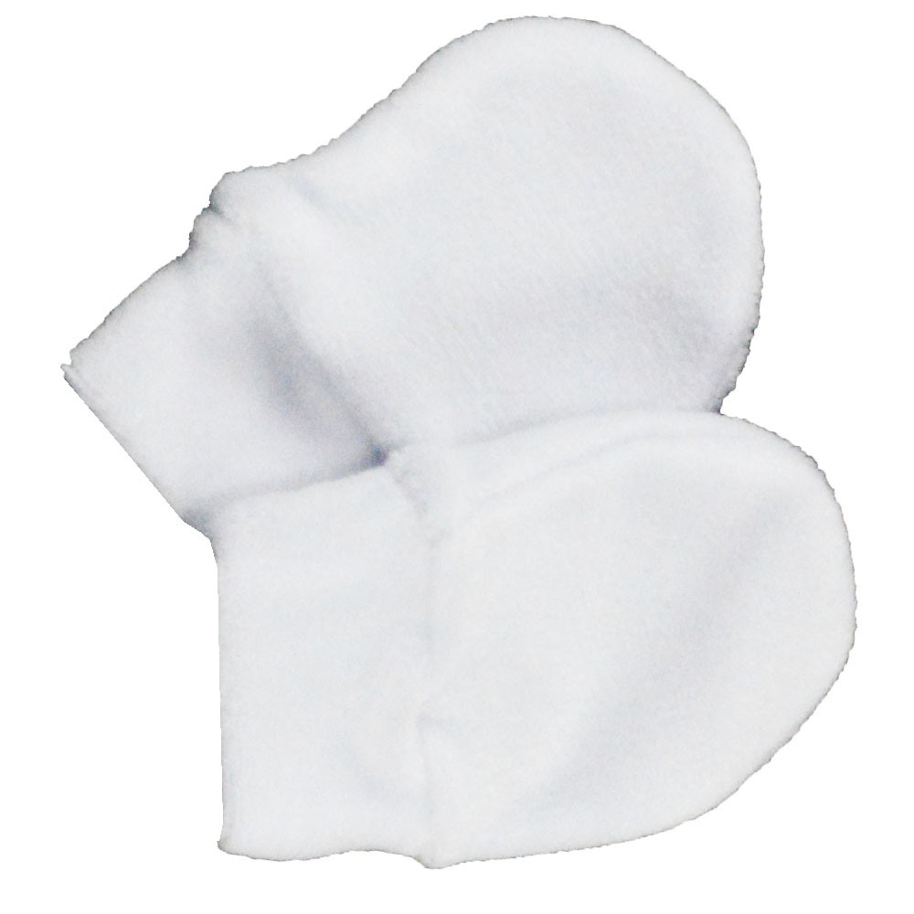 Luva de Bebê Malha Branca