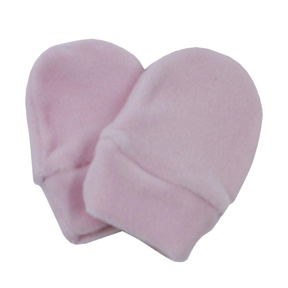 Luva de Bebê Plush Rosa Claro