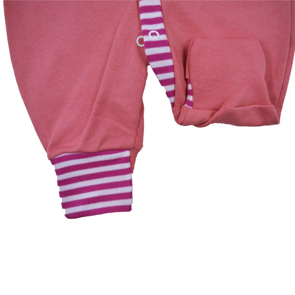 Macacão Malha Suedine Bordado Rosa Escuro