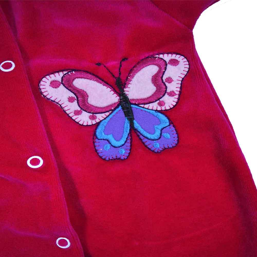 Macacão Plush Luxo Bordado Sem Pé Rosa Pink (P/M/G)