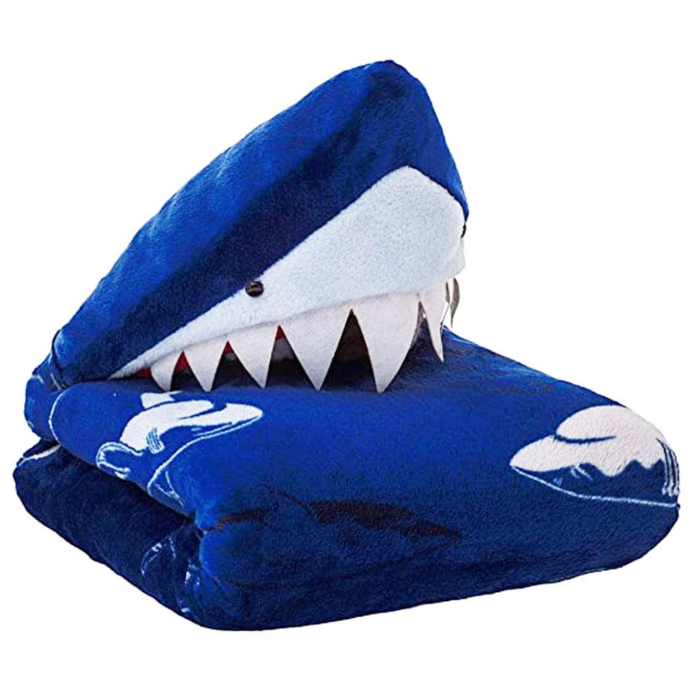 Manta com Capuz Shark Jolitex (75cm X 1m)