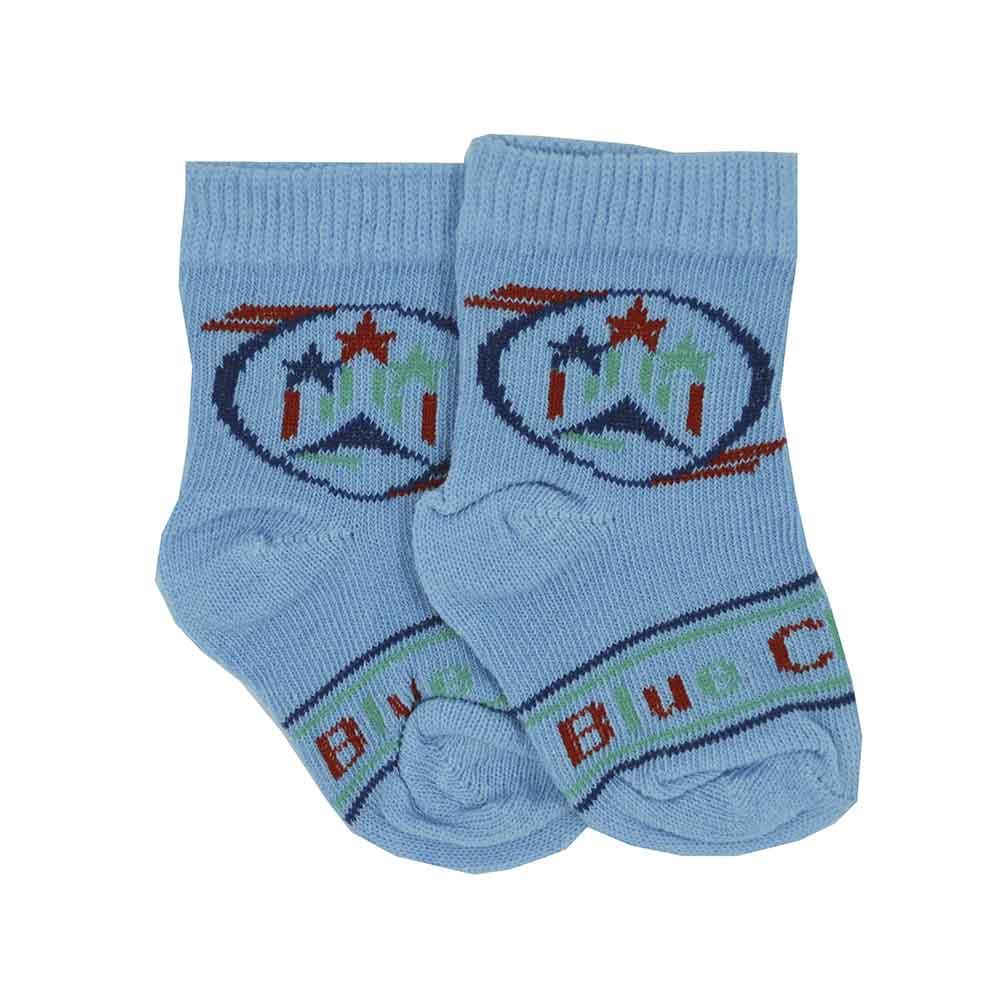 Meia de Bebê Azul Estampadas Sortidas Calçado 16 a 18