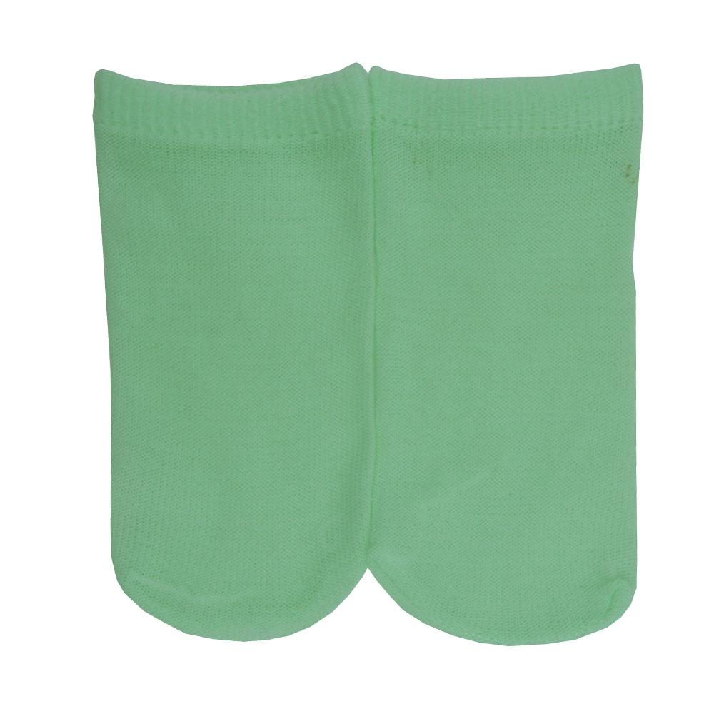 Meia Fina Recém Nascido Verde Lisa 0 a 3 meses Ratibum