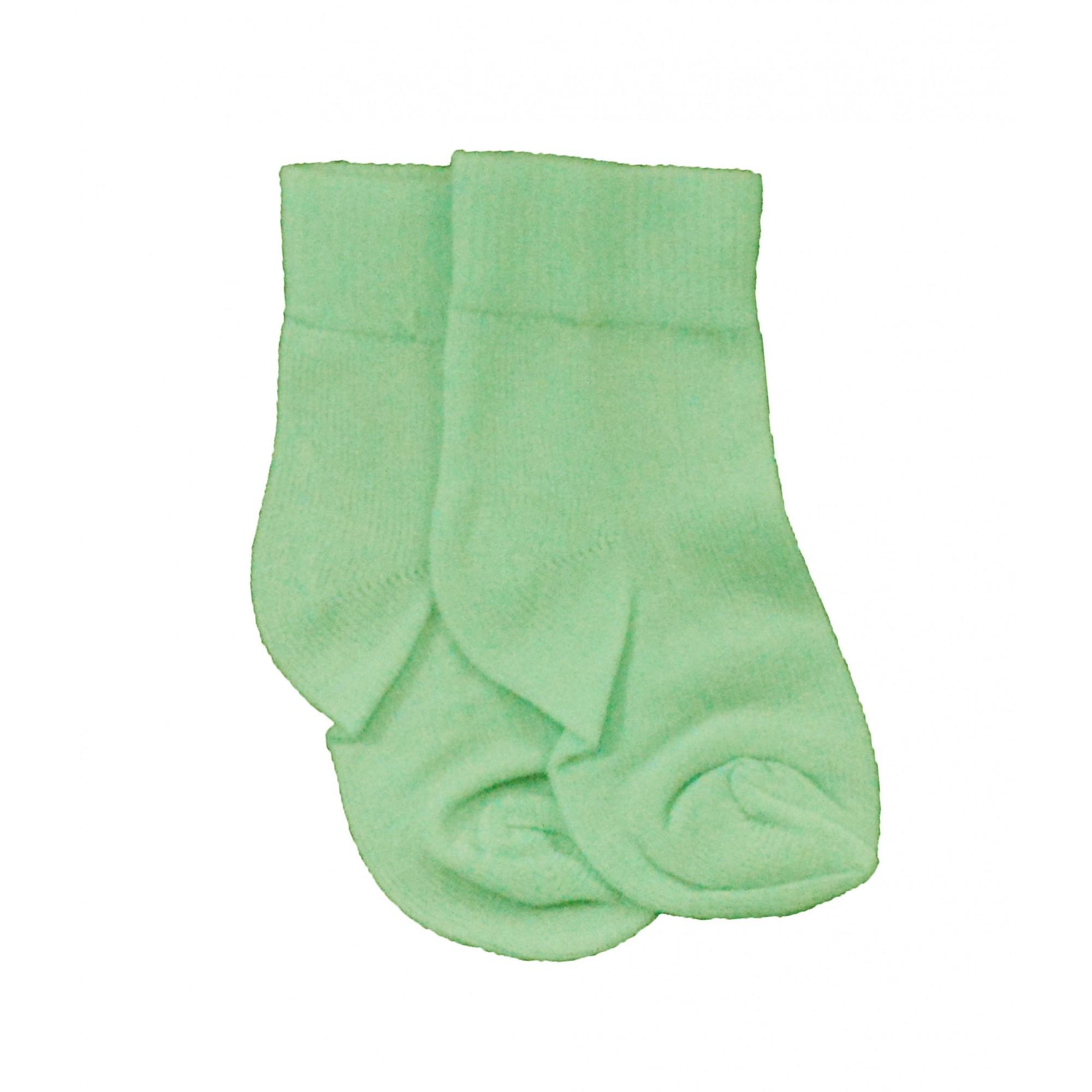 Meia Verde Lisa 0 a 3 meses Bambinos
