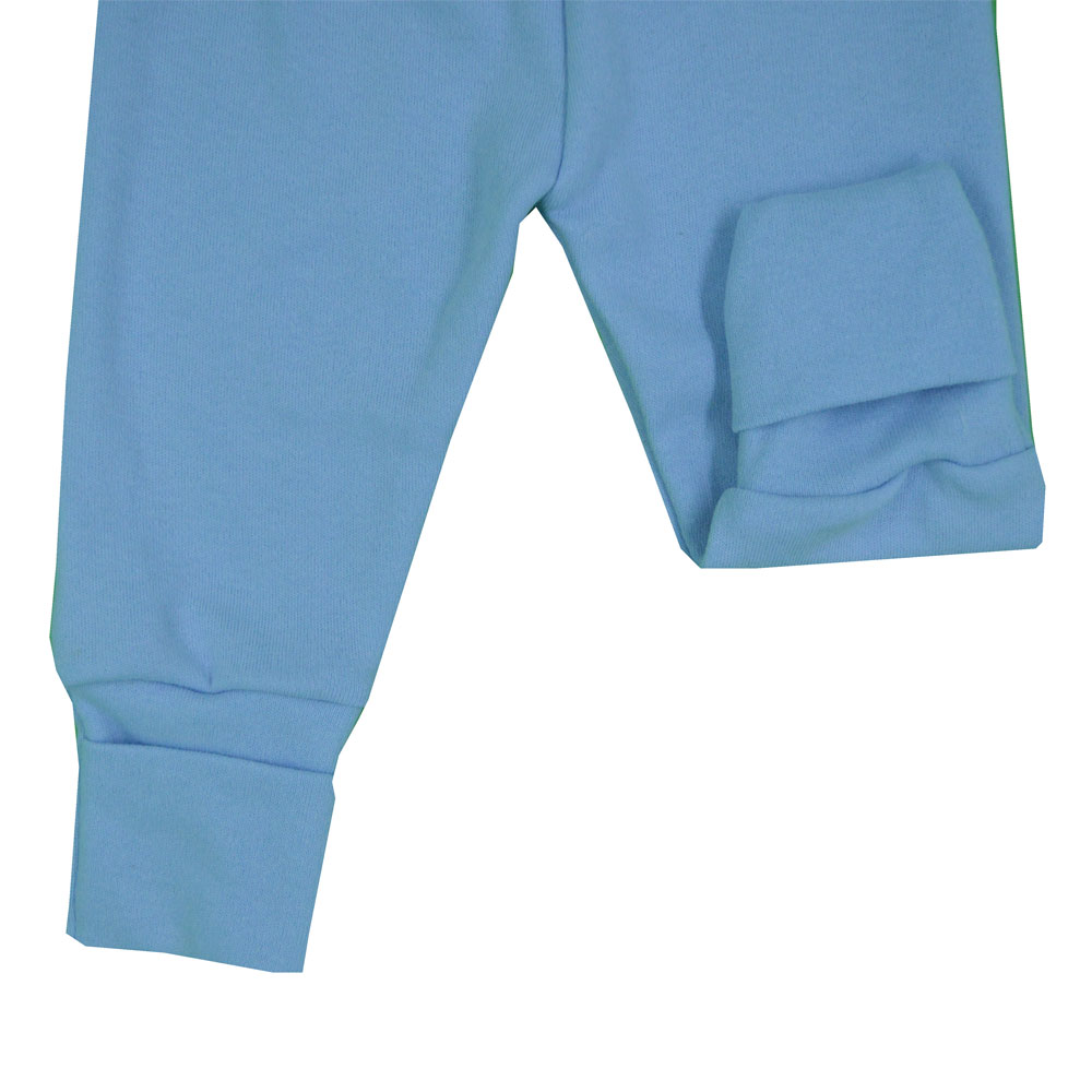 Mijão (Culote) Bebê Virá Pé Azul Liso RN ao GG
