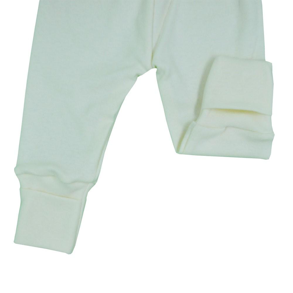 Mijão (Culote) Bebê Virá Pé Branco Liso (RN/P/M/G/GG)
