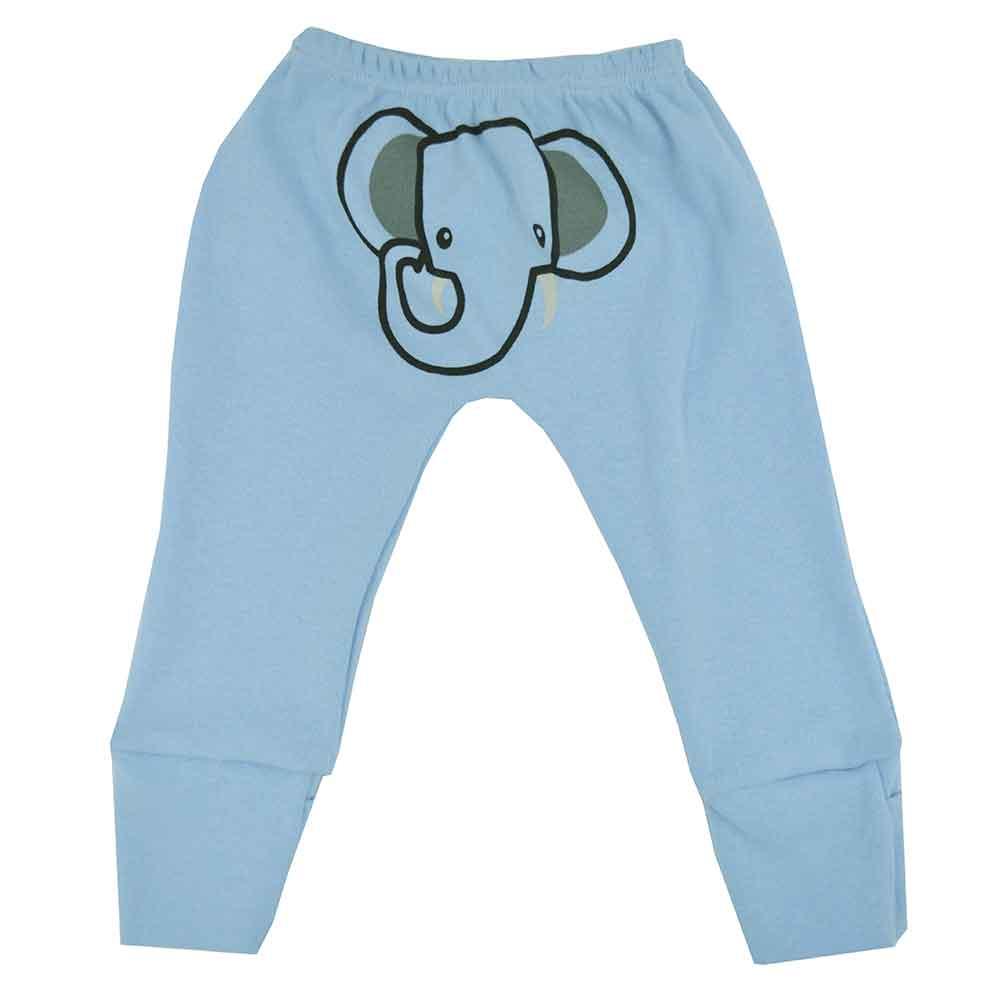 Mijão (Culote) Bebê Virá Pé Estampado no Bumbum Elefante (P/M/G)