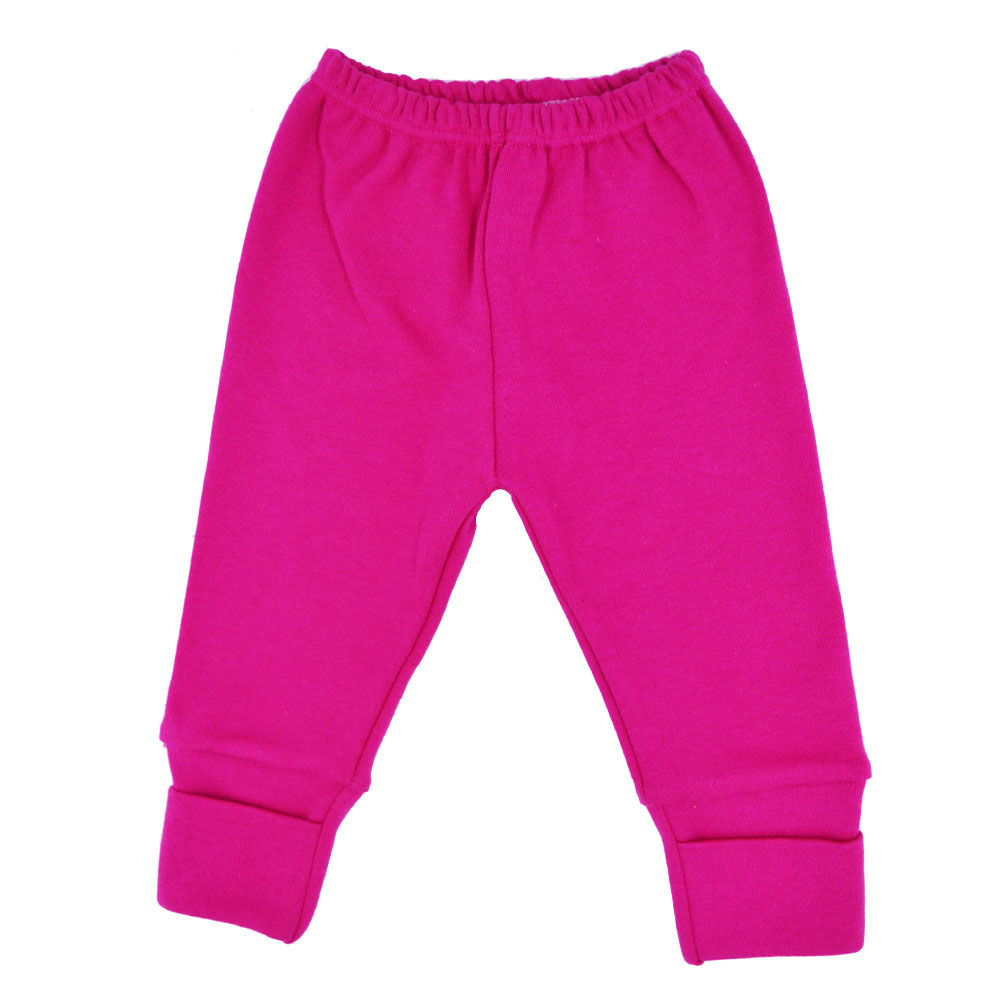 Mijão (Culote) Bebê Virá Pé Rosa Pink Liso (RN/P/M/G/GG)