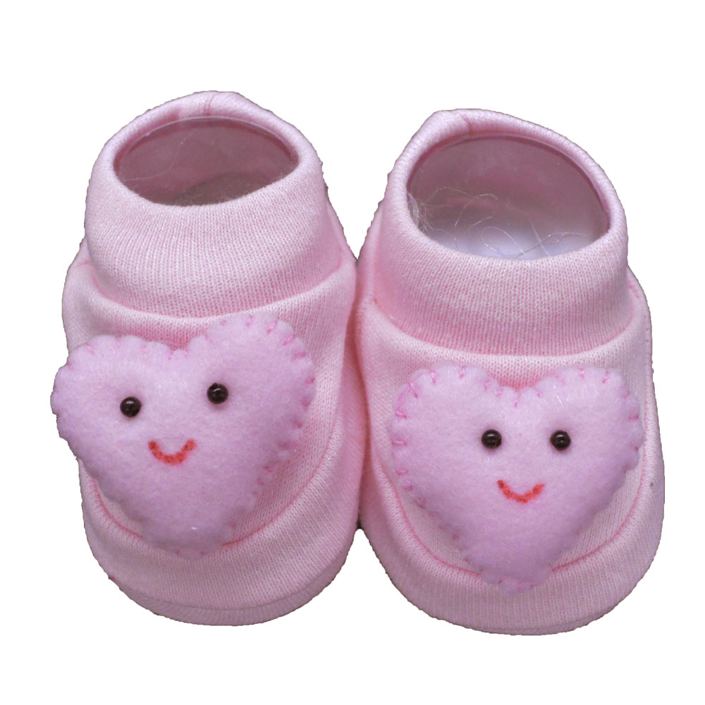 Pantufa de Bebê Bottini Rosa Coração