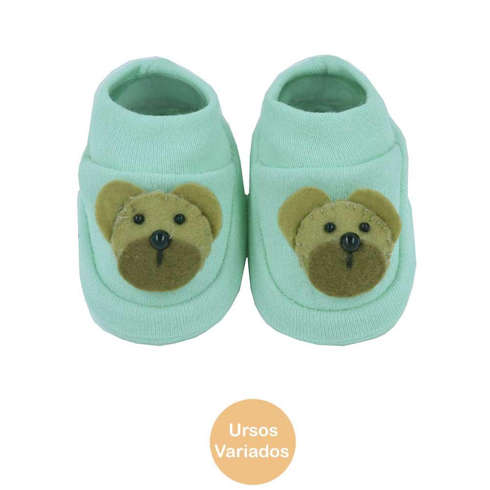 Pantufa de Bebê Bottini Urso Verde