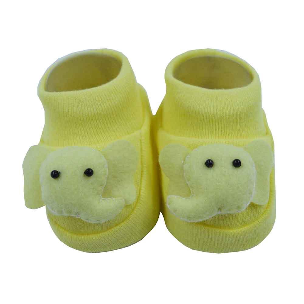 Pantufa de Bebê Nand Amarelo Elefante