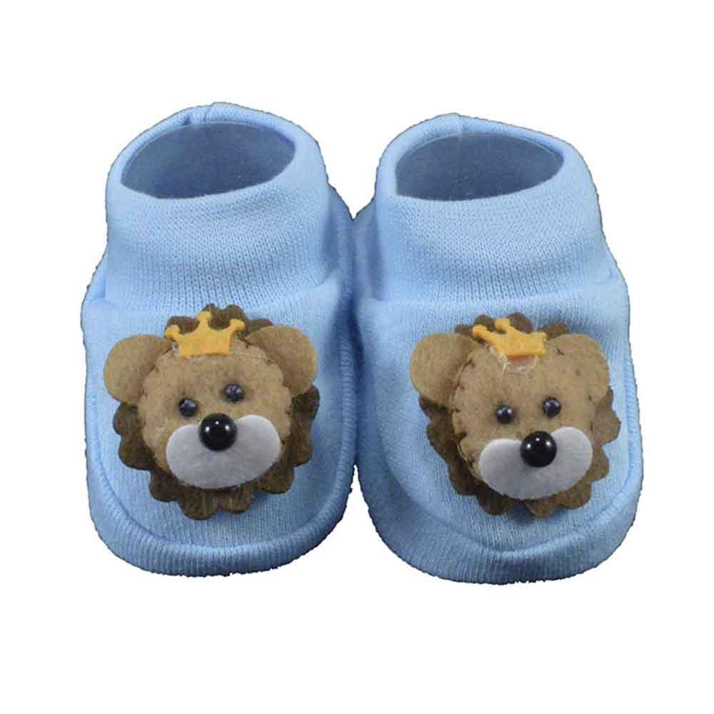Pantufa de Bebê Nand Azul Leão