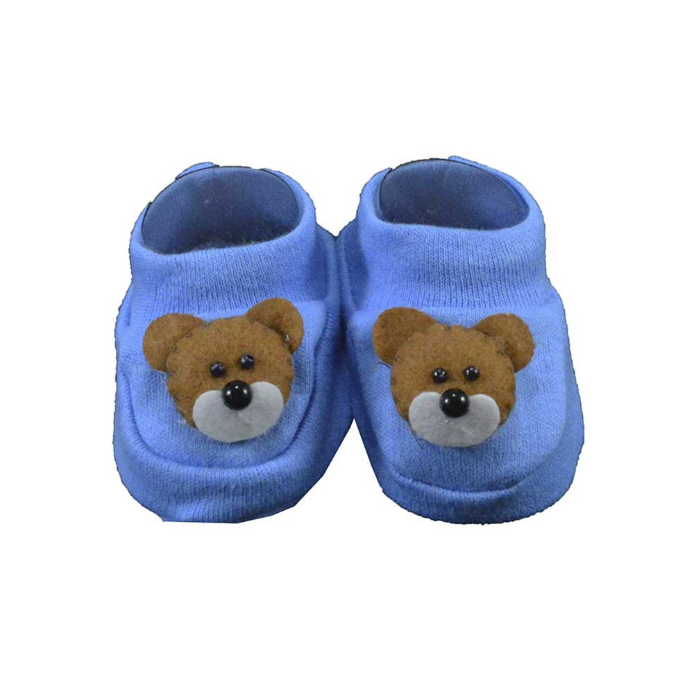 Pantufa de Bebê Nand Azul Urso